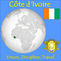 Ivory Coast location emblem motto
