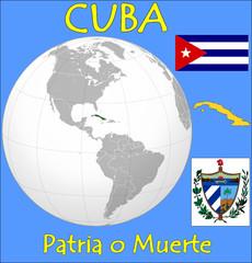 Cuba location emblem motto