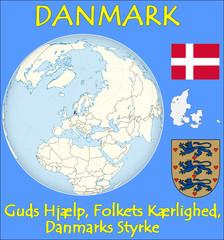 Denmark location emblem motto