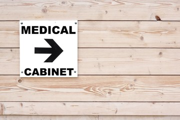 MEDICAL CABINET Sign
