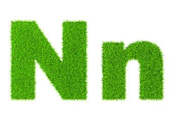 Grass letter N