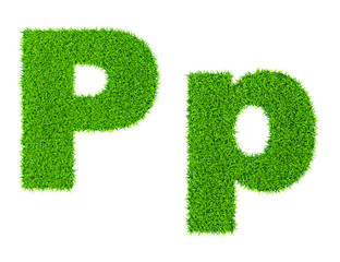 Grass letter P