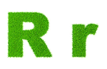 Grass letter R