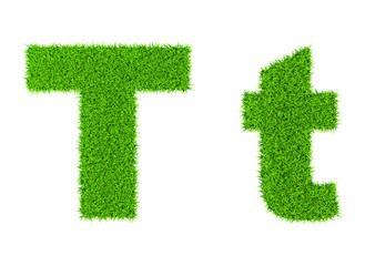 Grass letter T