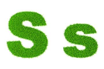 Grass letter S