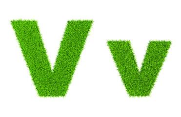 Grass letter V