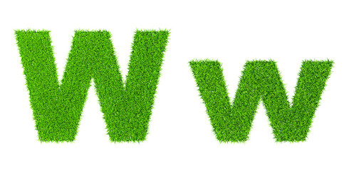 Grass letter W