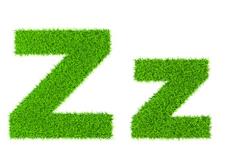 Grass letter Z