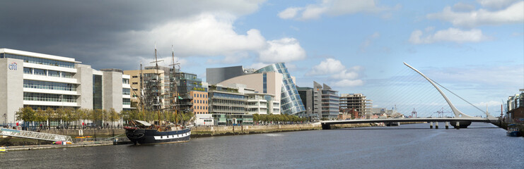 Docklands and the river Liffey, Dublin
