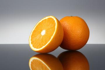 Orange and reflection
