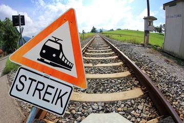 Bundesbahn-Streik