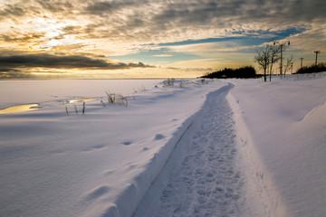 Winter Walkway along the waterfront in Summerside PEI