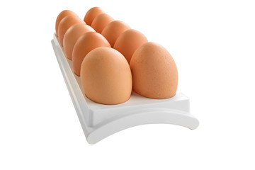eggs in white container