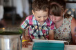 Children using tablet PC