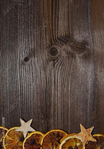 canvas print picture Weihnachten Holz Hintergrund