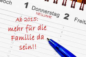 ab 2015 mehr für die Familie