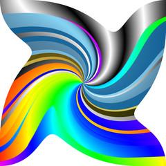 Sfumature di colori in movimento
