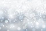 Silver blue snowflake wallpaper