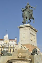 Monument to the Spanish King Philip IV in Madrid, Spain