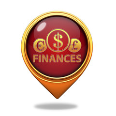 Finance pointer icon on white background