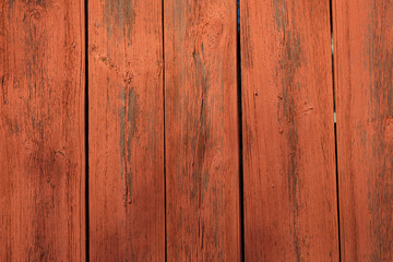 Wooden wall painted in typical Swedish red paint.
