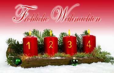 4. Advent - Dekorierter Dachziegel