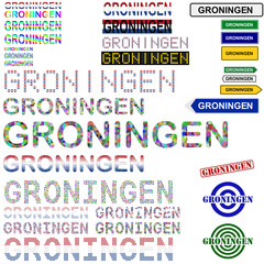 Groningen text design set