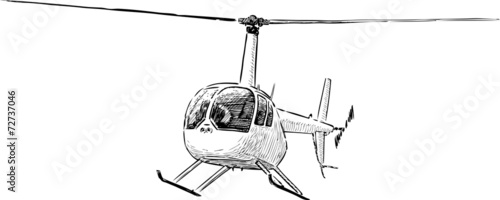 helicopter sketch - 72737046