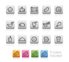 Food and Drink Icons 2 - EPS with 5 colors in different layers