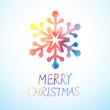 vector watercolor snowflake