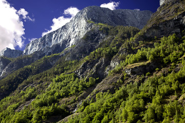 Beautiful mountains in the Lysefjord, Norway