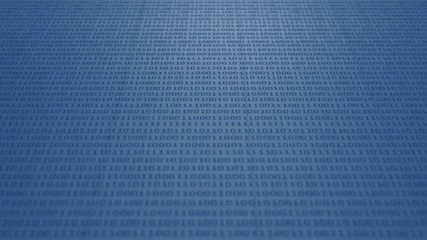 Scrolling blue binary code