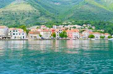 The coastal town