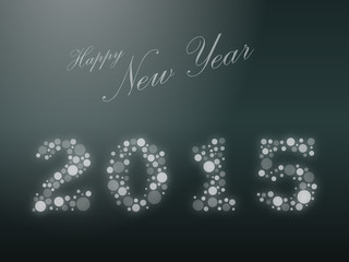Gray 2015 Happy New Year Background Vector