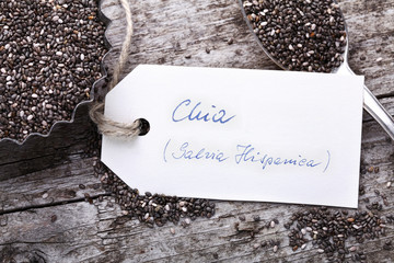 Chia Samen mit Label