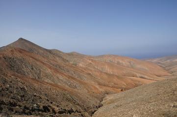 Ausblick von der Passhöhe La Tablada in Fuerteventura