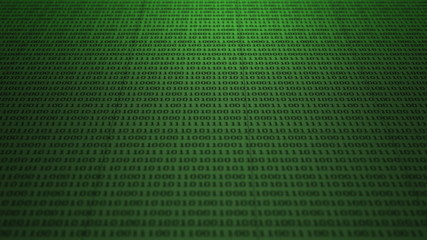Scrolling green binary code