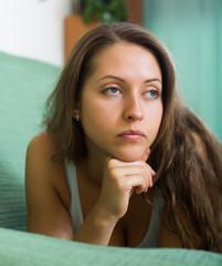 Sad young woman