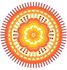 Orange mandala for energy obtaining