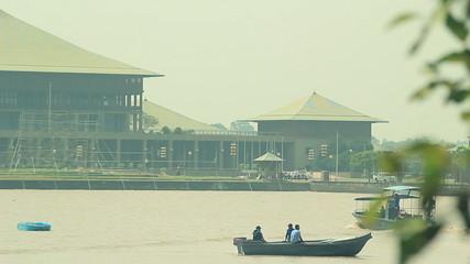 Sri Lanka office building of Colombo lake