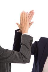 Handschlag: Hände isoliert, Konzept für erfolgreiches Team