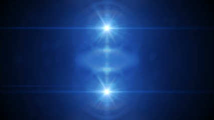 4K VID - Animation of blue lights and optical flares