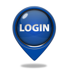 login pointer icon on white background