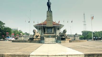 monument on the square Sri Lanka