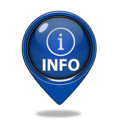 information pointer icon on white background