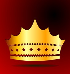 Illustration the gold royal crown