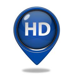 HD pointer icon on white background