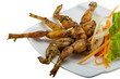 canvas print picture - Grilled frog legs