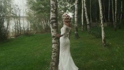 Young bride in the forest