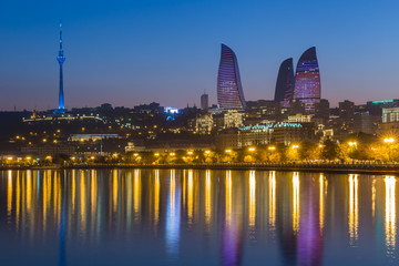Flame Tower in Baku